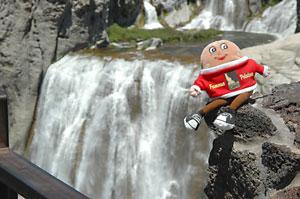 Spud at Shoshone Falls